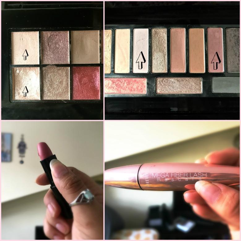 Pink Makeup Collage